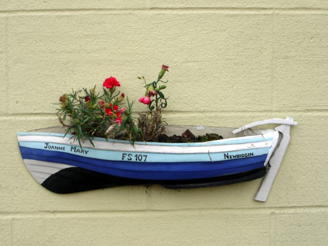 Fishing coble planter, Front Street, Newbiggin by the Sea
