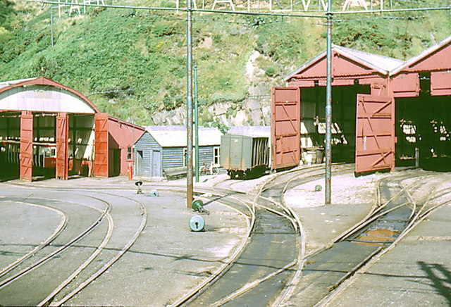 Manx Electric Railway, Onchan tram shed.
