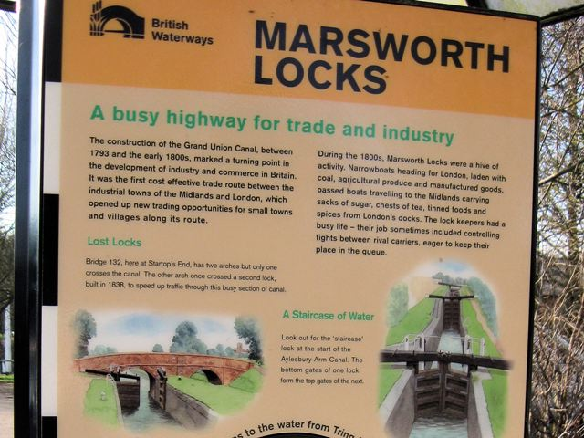 The Marsworth Flight of Locks, Grand Union Canal (for Information)