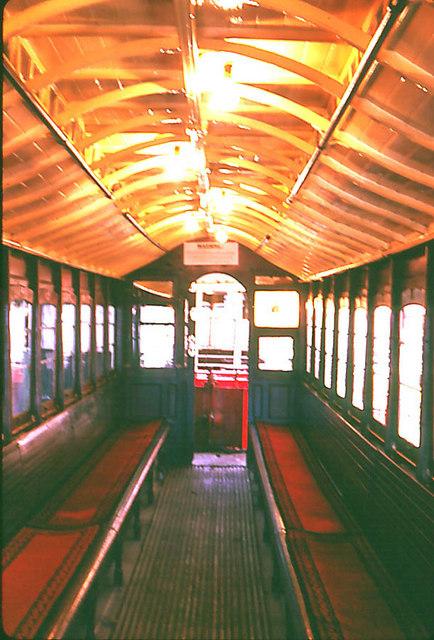Interior of Manx Electris Railway, Car Number 1