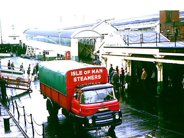 Isle of Man Steamers cargo lorry.