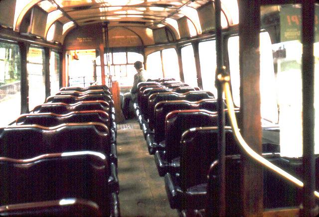 Glasgow tram upper saloon
