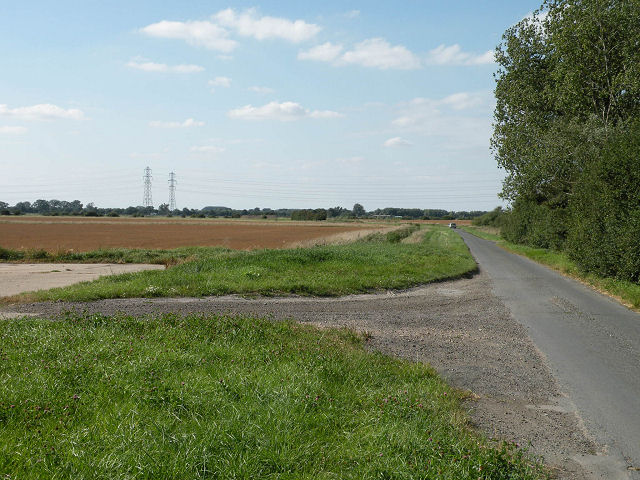 Road from Reach into the Fens