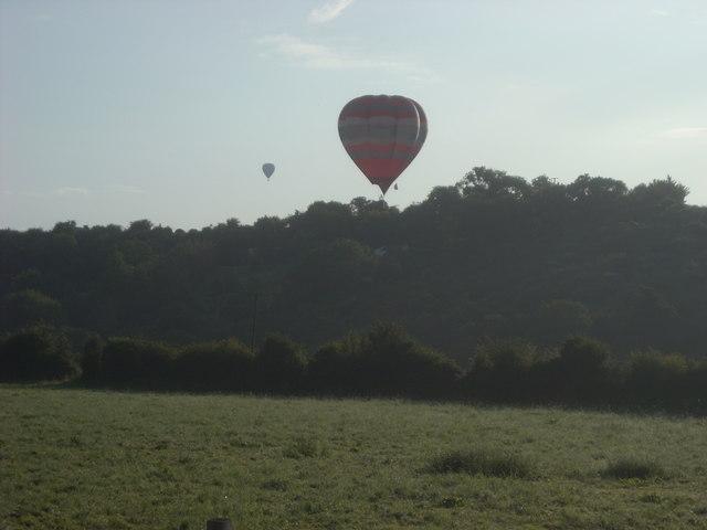 Hot Air Balloons over Offenham Park