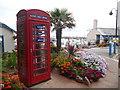 SX8960 : Paignton: phone box by harbour entrance by Chris Downer