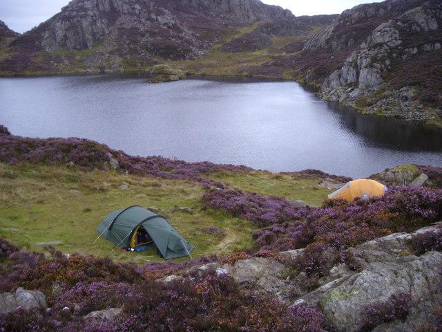 Wild camp at Llynnau Cerrig-y-myllt.