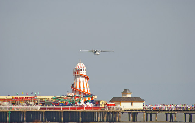 Catalina over Clacton Pier