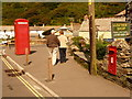 SX0991 : Boscastle: phone box and postbox by Chris Downer