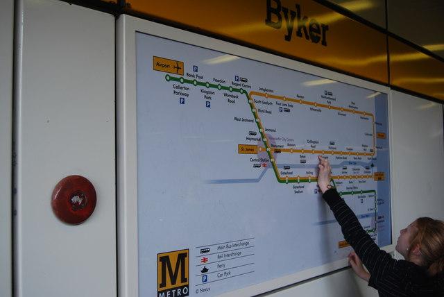 Metro map Byker Newcastle upon Tyne hayley green ccbysa20