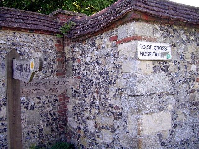 Clarendon Way signpost