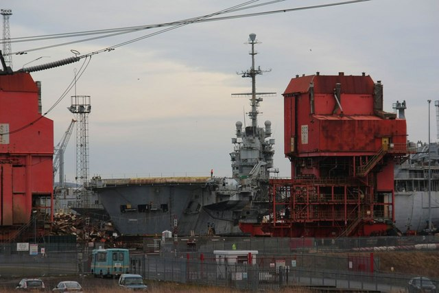 Aircraft Carrier Clemenceau at Able UK Breakers Yard