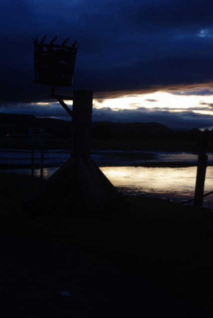 View over River Nith at sunset
