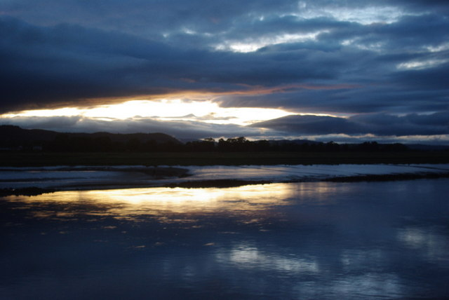 The River Nith mudflats at sundown