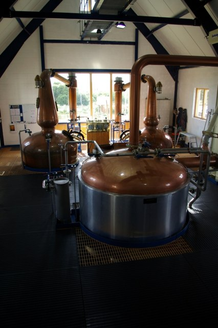 Interior of St George's Distillery