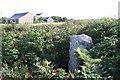 SW3930 : Roadside stone near Leswidden Farm by Rod Allday