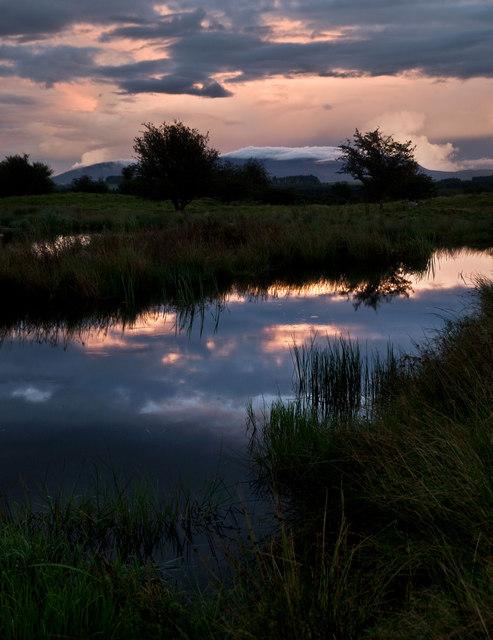 New pond near Kirkcowan