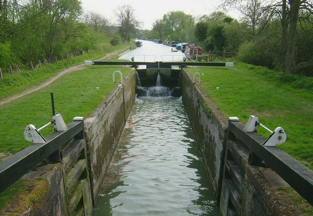 Canal Lock, Kennet Canal at Great Bedwyn