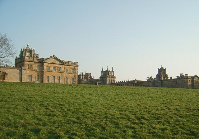 Blenheim Palace (one wing of, at dusk)