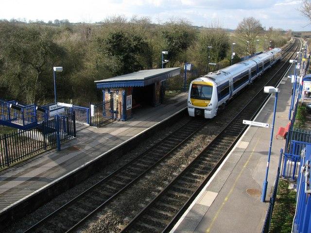 Rail Station, (passing train), King's Sutton