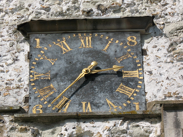 St Katharine's church Merstham: tower clock