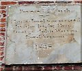 SJ9283 : Date stone, former school, Park Lane by Mike Kirby