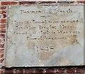 SJ9283 : Date stone, former school, Park Lane by Mike Kirby