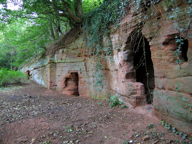 Man Caves Ireland : Man made caves at the hermitage dave croker geograph