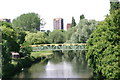 SK2003 : Footbridge spanning the River Tame (2) by Chris' Buet
