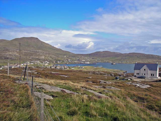 Castlebay on Barra from the war memorial.