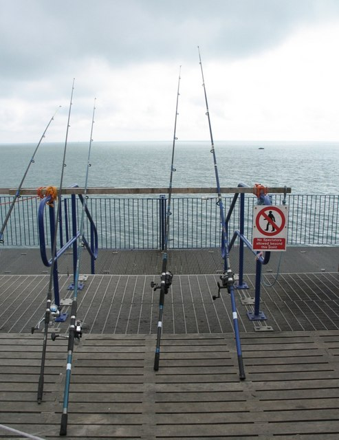 fishing rods eastbourne pier gerald massey geograph