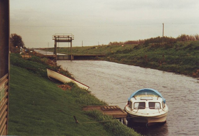 Sluice gate at Welney, Cambridgeshire