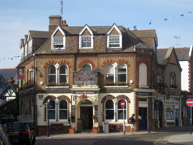 The Duke of Cumberland Hotel, High Street, Whitstable