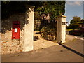SY3392 : Lyme Regis: postbox № DT7 29, Sidmouth Road by Chris Downer