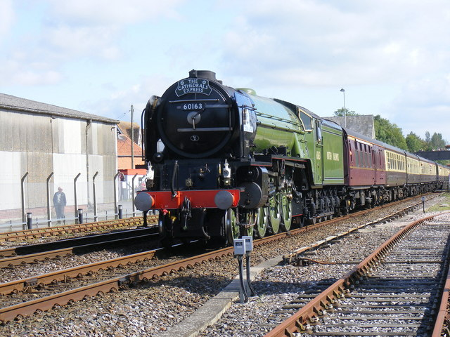 """Tornado"" arrives at Gillingham Station."