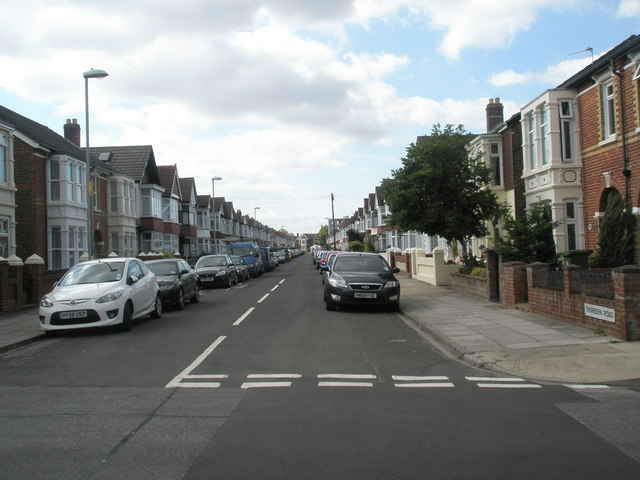 Looking from Randolph Road into the western part of Thurbern Road