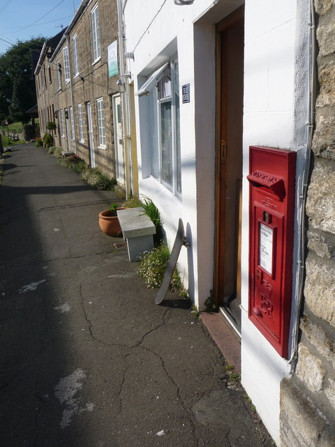 Bothenhampton: postbox № DT6 27 and the old post office