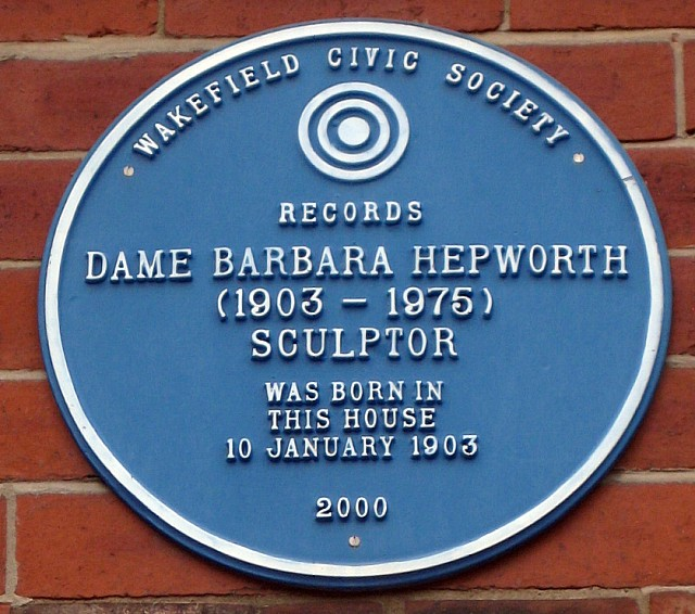 Barbara Hepworth , Blue plaque