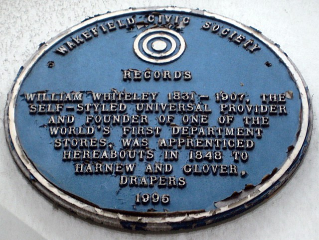 Blue Plaque, Central Buildings, Bull Ring