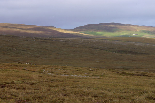 Valley of the Burn of Voesgarth from Hill of Colvadale