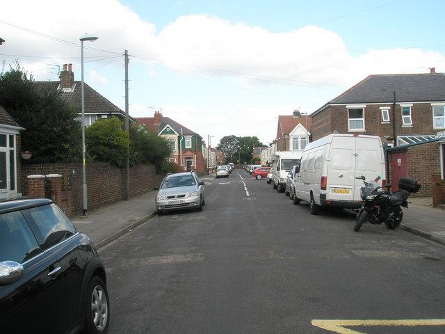 Looking northwards up Crofton Road towards Kirby Road