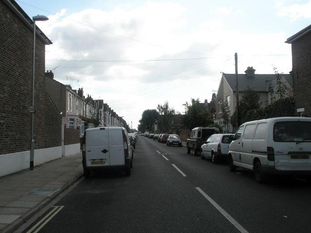 Looking southwards down Lyndhurst Road towards Stubbington Avenue