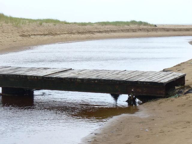 Footbridge in Oxwich Bay