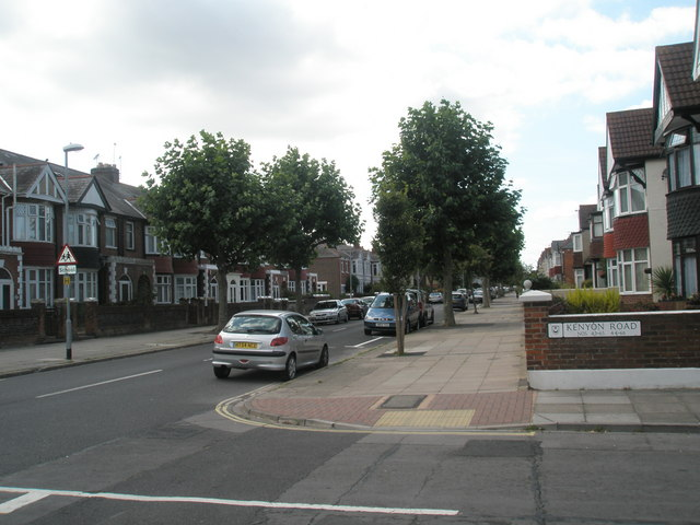 Looking from Kenyon Road into Kirby Road