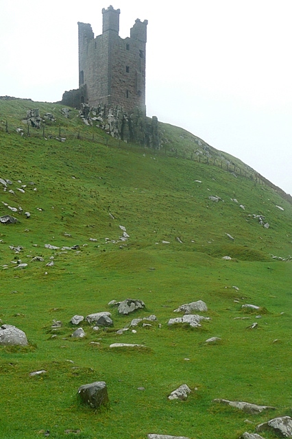 Approaching Dunstanburgh Castle