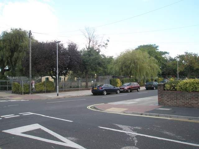 Looking from Kensington Road across Kirby Road towards College Park