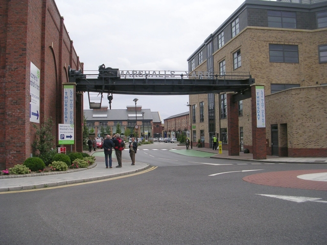 Entrance to Marshall's Yard Car Park - Spring Gardens