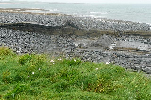 Rock formation in Embleton Bay