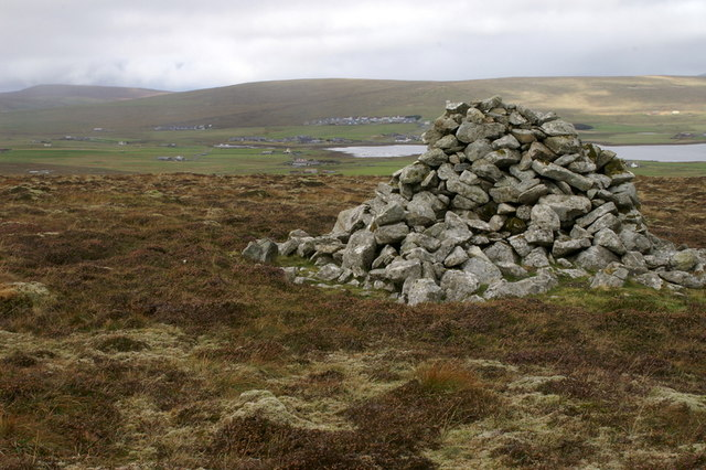 Cairn on Virda Field