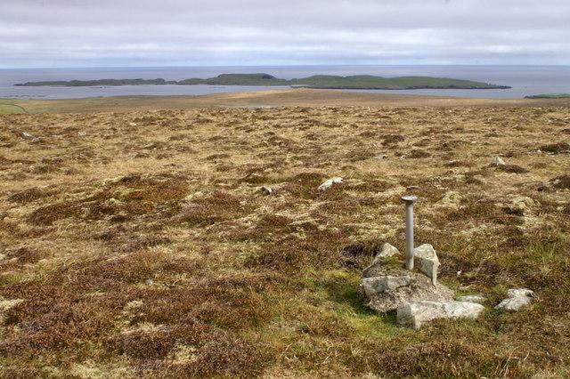 Survey marker on Virda Field