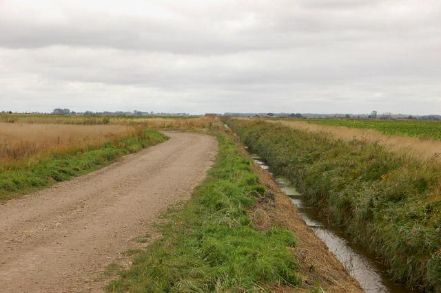 Farm track and drain